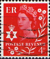 Northern Ireland 1968 Queen Elizabeth SG Scott 9 Fine Used Regional Postage stamps