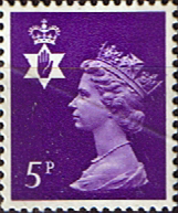 Northern Ireland 1971 Queen Elizabeth Machin SG NI 18 Scott NIMH 5 Fine Mint Regional Postage Stamps