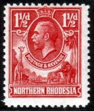 Northern Rhodesia 1925 Animals SG  3 Fine Mint