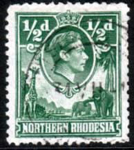 Stamps of Northern Rhodesia 1938 Animals SG 25 Fine Used  Scott 25
