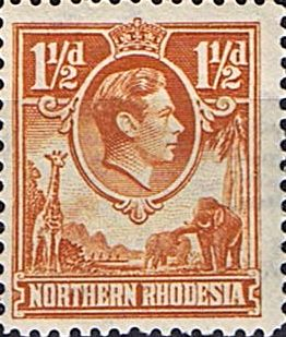 Northern Rhodesia Stamps 1938 Animals SG 30 Fine Mint Scott 30