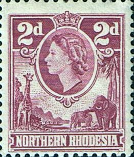 Northern Rhodesia 1953 Animals SG 64 Fine Mint