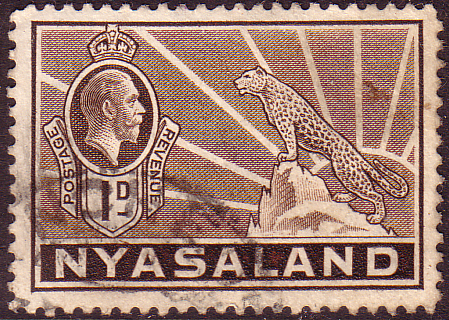 Nyasaland 1934 SG 115 Leopard Symbol of the Protectorate Fine Used Scott 39 Stamps Stamp