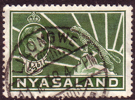 Nyasaland 1938 SG 130 Leopard Symbol of the Protectorate Fine Used