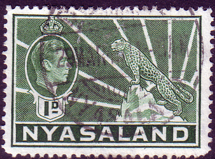 Nyasaland 1938 SG 131a Leopard Symbol of the Protectorate Fine Used