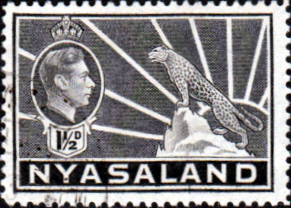 Nyasaland 1938 SG 132a Leopard Symbol of the Protectorate Fine Used