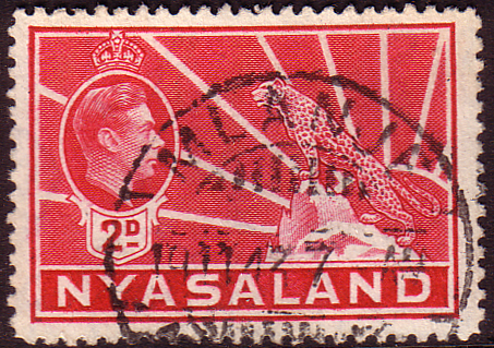 Nyasaland 1938 SG 133a Leopard Symbol of the Protectorate Fine Used
