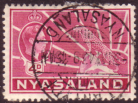 Nyasaland 1938 SG 135 Leopard Symbol of the Protectorate Fine Used Scott 59 Stamps Stamp