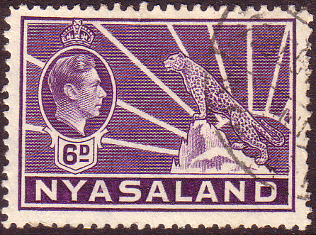 Nyasaland 1938 SG 136 Leopard Symbol of the Protectorate Fine Used Scott 60 Stamp Stamps