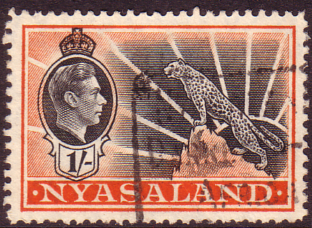 Nyasaland 1938 SG 138 Leopard Symbol of the Protectorate Fine Used Scott 6 Stamp Stamps