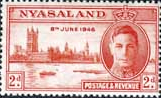 Nyasaland 1946 King George VI Victory SG 159 Fine Mint