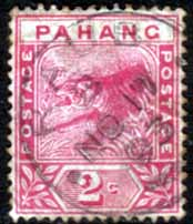 Stamps Malay States Pahang 1891 Tiger SG 12 Fine Used Scott