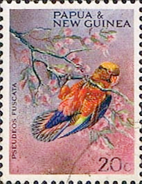Postage Stamps Papua New Guinea 1967 Christmas Territory Parrots SG 123 Fine Mint Scott 251