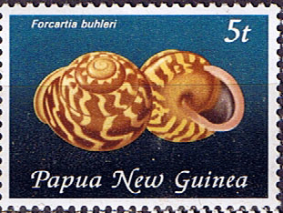 Postage Stamps Papua New Guinea 1981 Land Snail Shells SG 425 Scott 553 Fine Mint