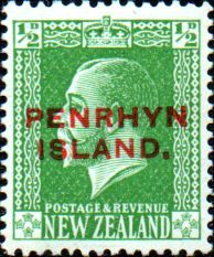 Penrhyn Island 1917 New Zealand Overprint SG 28 Fine Mint
