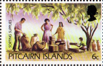 Postage Stamp Stamps Stamps Pitcairn Islands 1976 American Revolution Set Fine Min