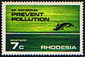 Rhodesia 1972 Prevent Pollution SG 472 Fine Mint