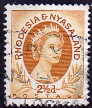 Postage Stamps Rhodesia and Nyasaland 1954 Queen Elizabeth II SG 3a Fine Used