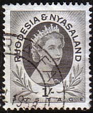 Postage Stamps Rhodesia and Nyasaland 1954 Queen Elizabeth II SG 9 Fine Used Scott 149