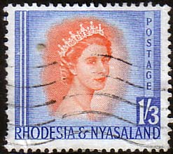 Postage Stamps Rhodesia and Nyasaland 1954 Queen Elizabeth ...