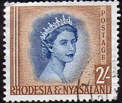 Postage Stamps Rhodesia and Nyasaland 1954 Queen Elizabeth II SG 10 Fine Used Scott 149