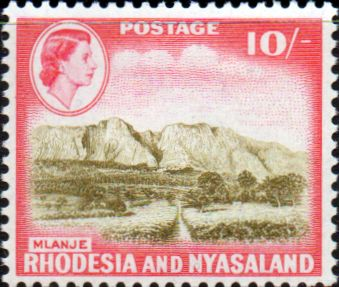 Postage Stamps Rhodesia and Nyasaland 1959 Queen Elizabeth II SG 26 Chirundu Bridge Fine Used Scott 166