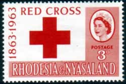 Rhodesia and Nyasaland Stamps 1963 Red Cross Centenary