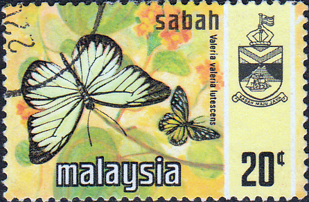 Sabah 1971 SG 438 Butterflies Valeria Lutescens Fine Used