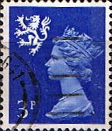 GB Machin Stamps Scotland 1971 Queen Elizabeth II Machin SG 15 Scott SMH 2 Fine Used