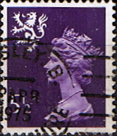 GB Stamps Scotland 1971 Queen Elizabeth II Machin SG 22 Scott SMH 6 Fine Used
