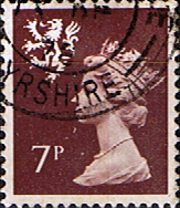 GB Regional Stamps Scotland 1971 Queen Elizabeth II Machin SG 24 Scott SMH 8 Fine Used