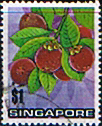 Singapore 1973 Fruit SG 221 Mangosteen Fine Used