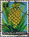 Singapore 1973 Fruit SG 224 Pineapple Fine Used