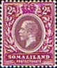 Postage stamps Somaliland Protectorate 1912 King George V SG 62 Fine Mint Scott 53