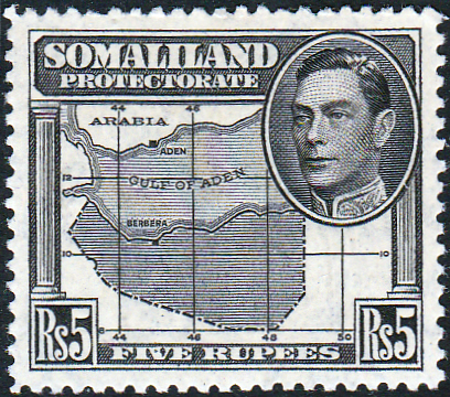 Somaliland Protectorate 1938 King George VI SG 104 Fine Mint