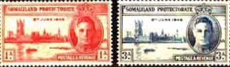 Somaliland Protectorate Stamps 1946 King George VI Victory Set Fine Mint