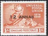 Somaliland Protectorate 1949 Universal Postal Union SG 124 Fine Mint