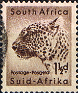 Postage Stamps South Africa 1954 Wild Animals SG 153 Leopard Fine Used SG 153 Scott 202