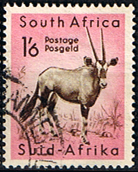 Stamps of South Africa 1954 Wild Animals SG 161 Gemsbok Antilope  Fine Used