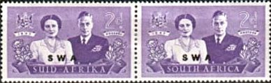 South West Africa South West Africa 1947 Royal Visit Set Fine Mint SG 134 6 Scott 156 8