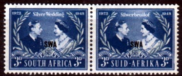 South West Africa Stamps King George VI Royal Silver Wedding