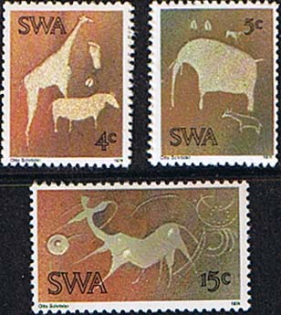 South West Africa 1974 Twyfelfontein Rock-engravings Set Fine Mint