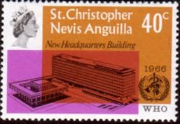Stamps Stamp St Christopher Nevis Anguilla International Telecomunication Union Set Fine Mint