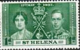 St Helena Stamps 1937 King George VI Coronation