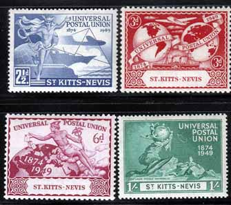St Kitts - Nevis Stamps 1949 Universal Postal Union