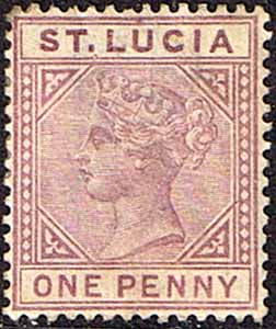 St Lucia Stamps 1891 Queen Victoria SG 44 Fine Mint Scott 29