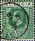 St Lucia 1912 King George V SG 78 Fine Used