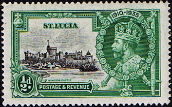 Stamps Omnibus Issue St Lucia 1936 King George V SG 109 Silver Jubilee Fine Mint Scott 91