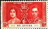 St Lucia 1937 King George VI Coronation Stamps