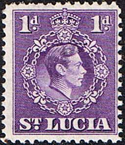 Stamps St Lucia 1938 King George VI SG 129a Fine Used Scott 111